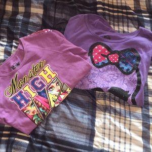 2 (Girls) Monster High long sleeve shirts